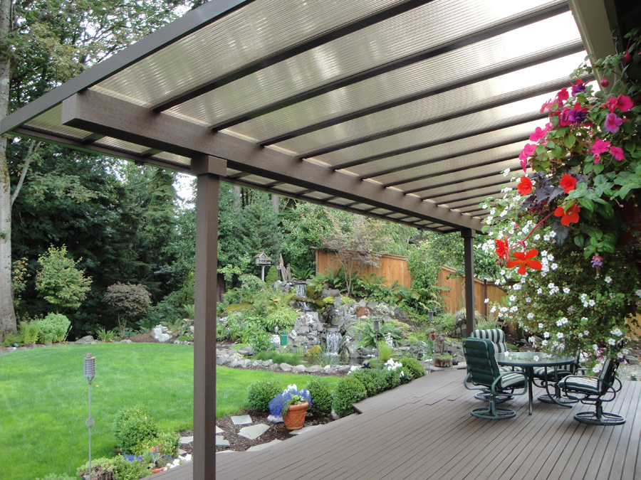 Beautiful Flat Pan Patio Covers Company in Olympia WA