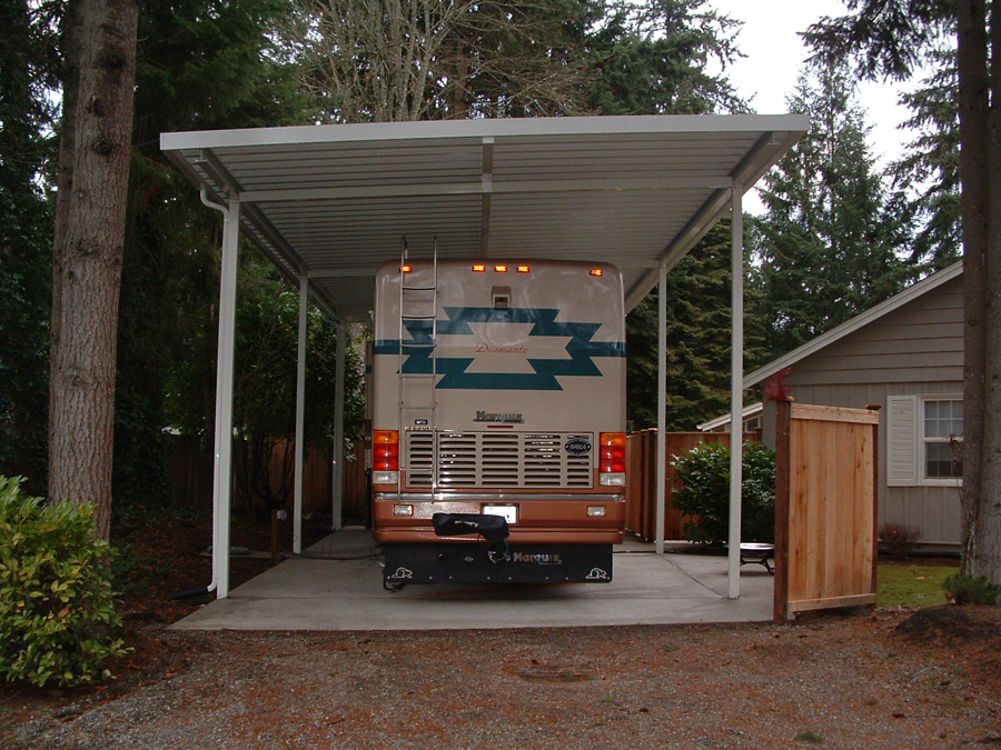 RV covers and Flat Pan Patio Covers Contractor in Lakewood WA