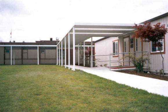 School Metal Awnings Contractor in Puyallup WA